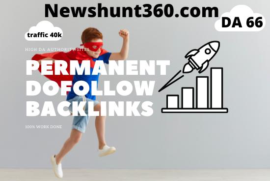 Guest Post on Newshunt360. com - DA 66 - DR-51 Traffic 40 K for 40