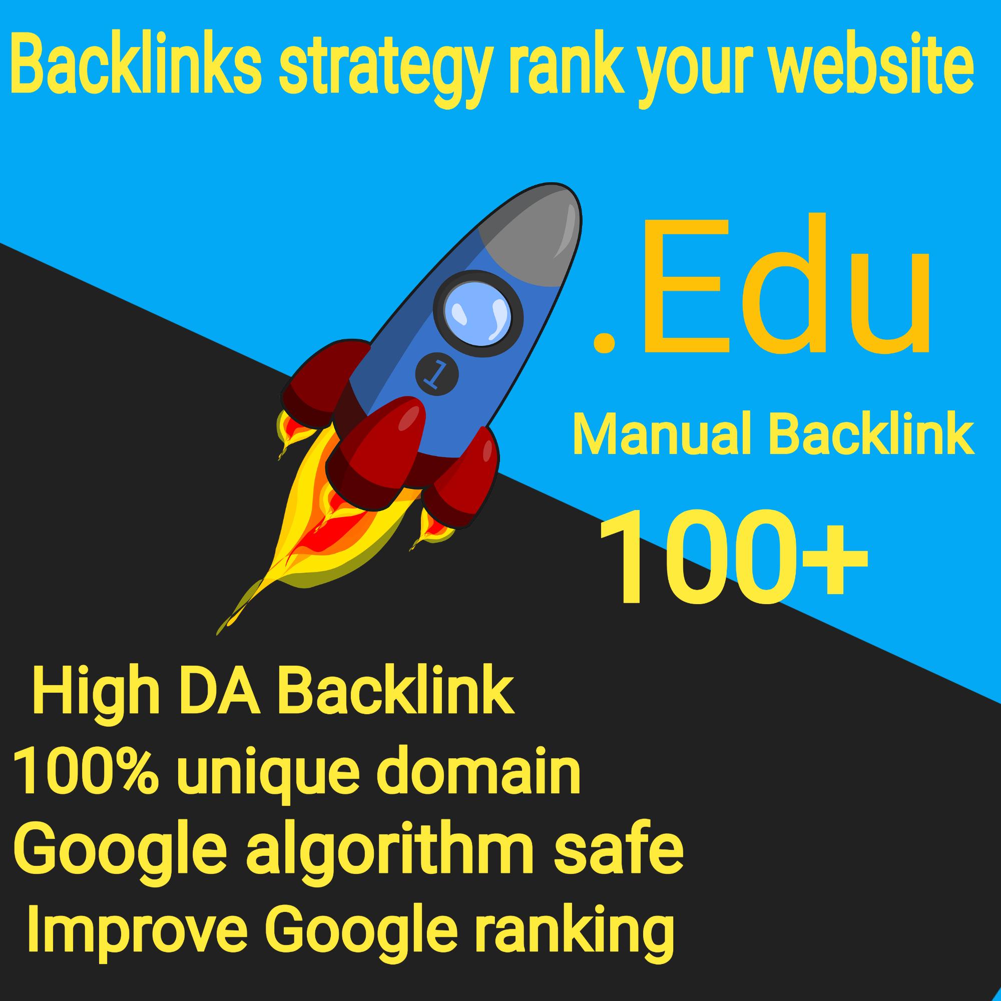 100 EDU Backlinks Manually High Domains Authority Safe Seo Backlinks