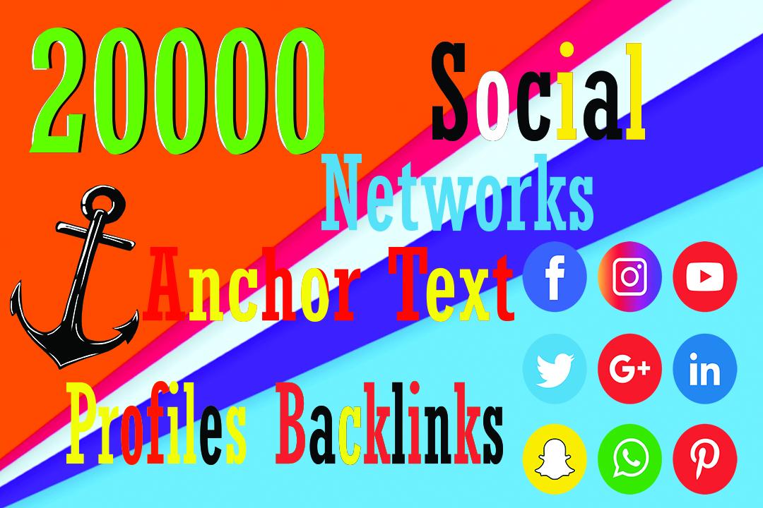 Make 20000 Social networks profiles backlinks