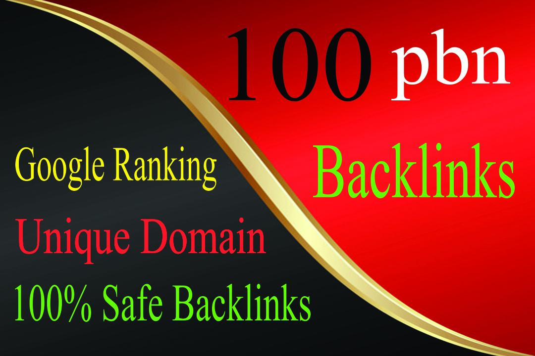 Build 100 Unique Domain Home Page PBN Backlinks