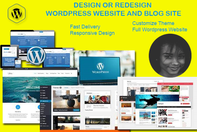 I will design, redesign modern, optimized and high converting wordpress website or blog designs