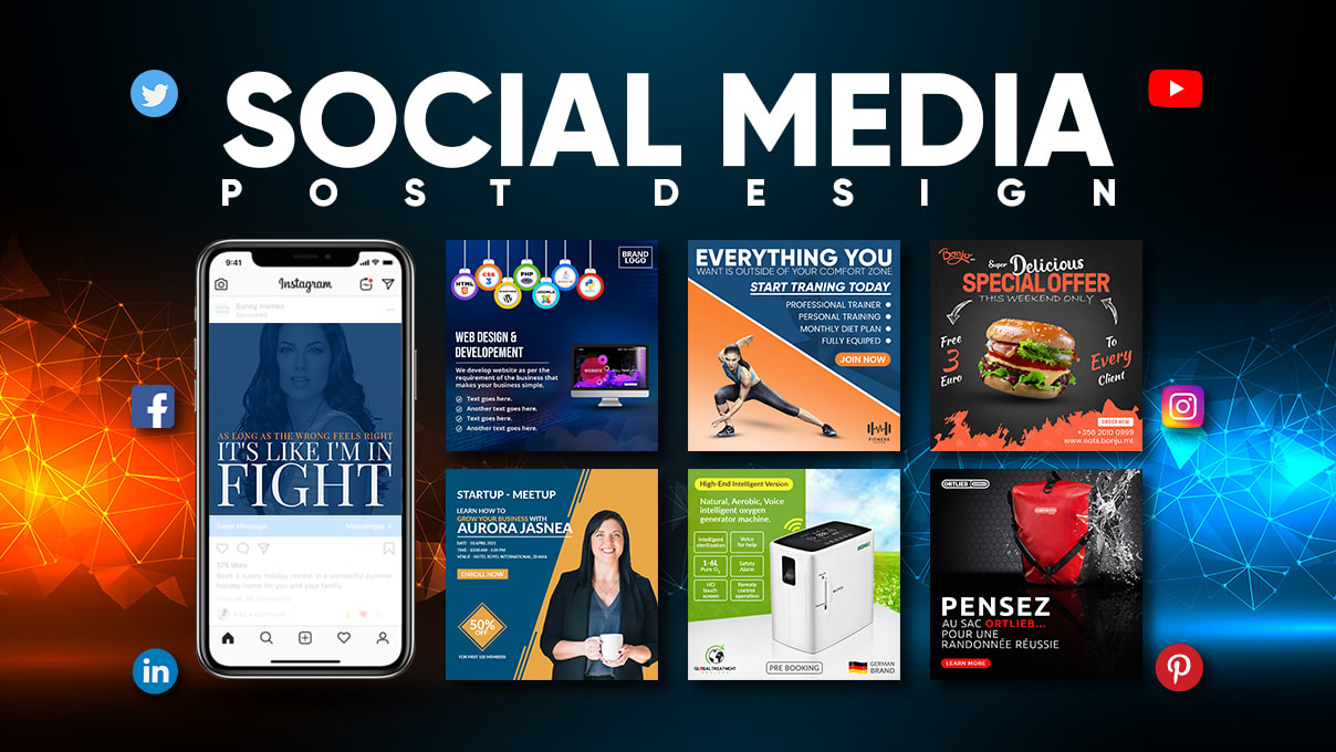 I will design social media posts for you