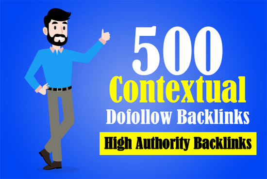 I will create 500 high-quality contextual,  profile,  SEO do-follow backlinks with excel file Report