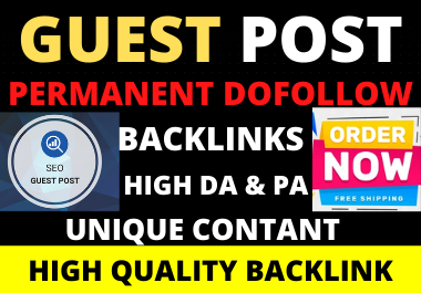 I will write & Publish 10 Guest Post On High Authority Website With Content