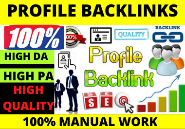 I Will Manually Create 80 profile Backlinks. High Quality SEO Backlinks Rank in Google. TOP SITE