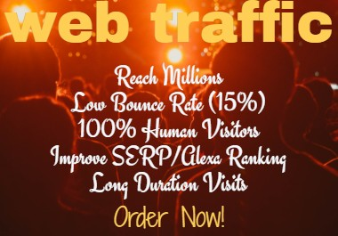 I Will Send 5000 Human Visitors To Your Sites Daily for Up to 30 DAYS