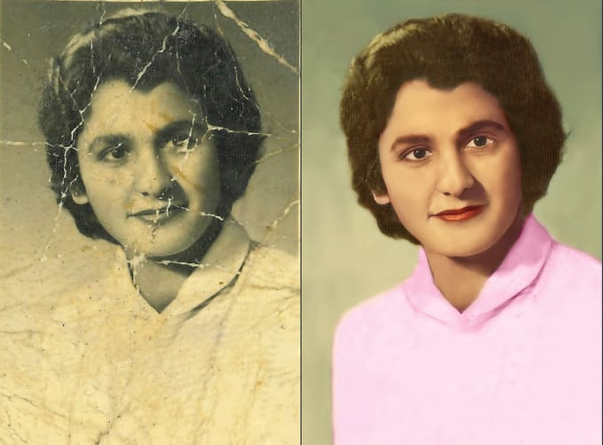 I will restore old photos and photo Colorize