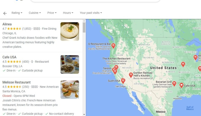 I scrape data from google maps web web scraping
