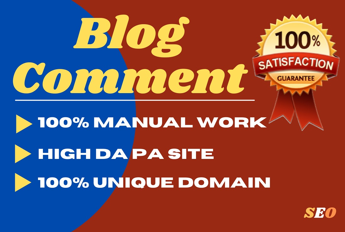 I will make 120 blog comment backlinks on the high DA PA blog