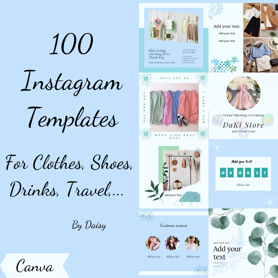 I will creative 100 templates for your business