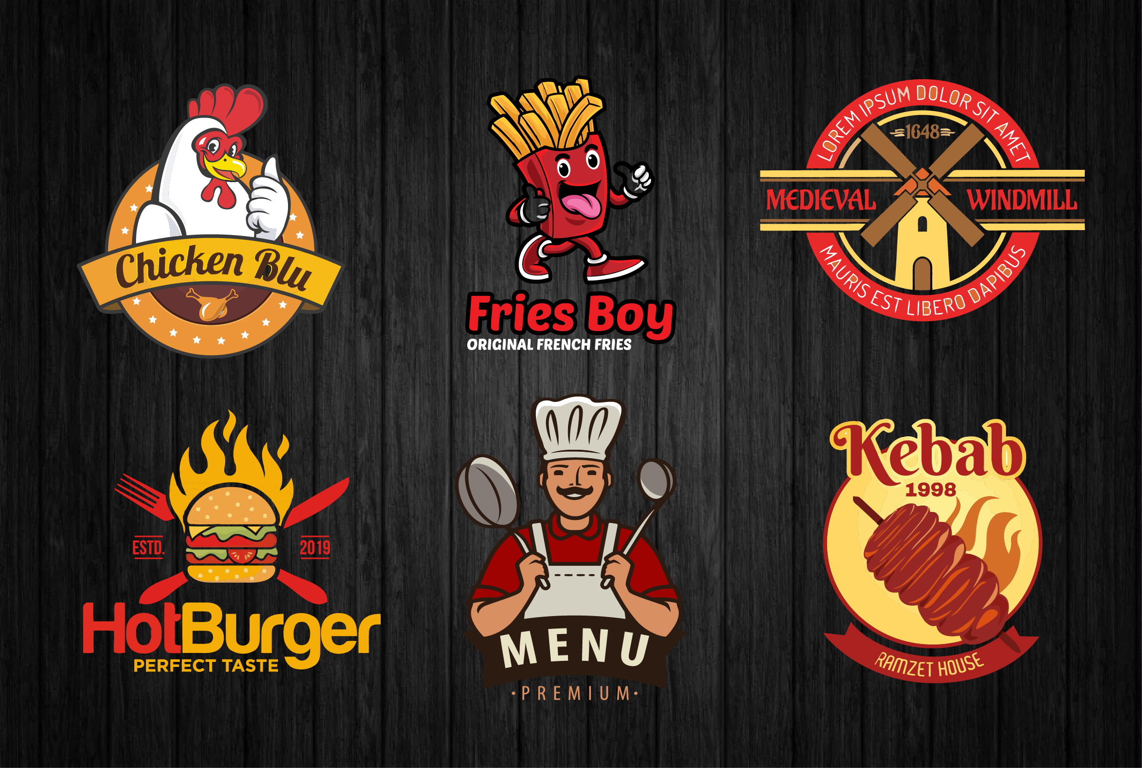 I will design attractive fast food,  bakery,  cafe,  and restaurant logo