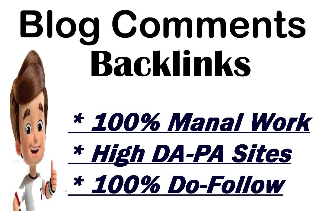 I will provide 60 Blog Comments on High DA