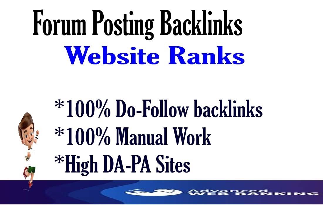 I'll provide 40 forum posting high-quality Do-follow sites