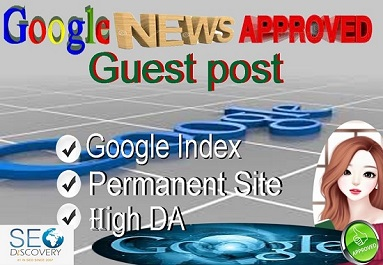 I will write and publish 3 guest posts on Google News approve sites
