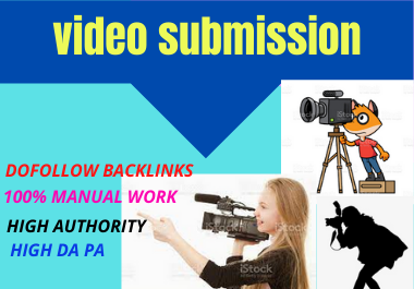 70 dofollow Video Submission backlinks high authority link building