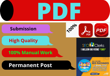 Dofollow 50 PDF Submission High Authority Website Permanent Backlink