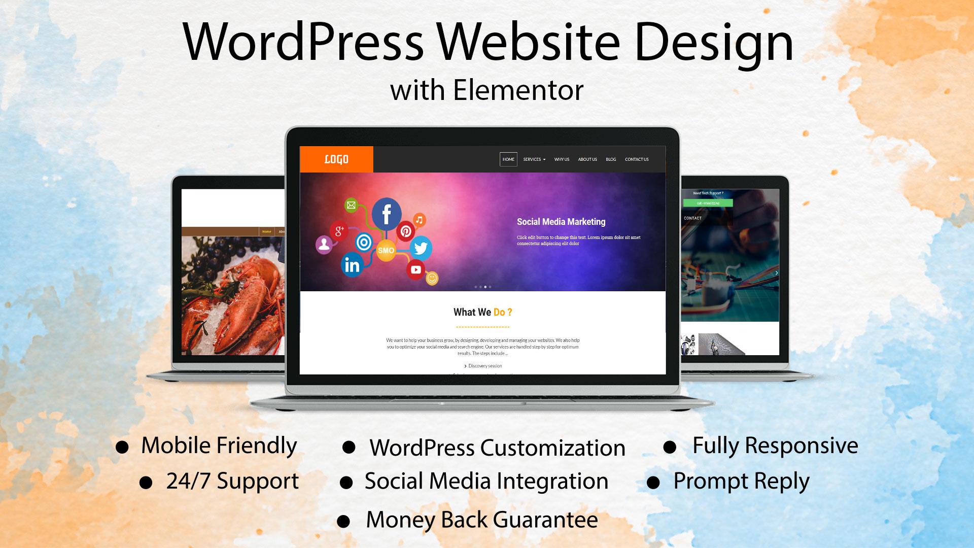 I will design mobile friendly wordpress website