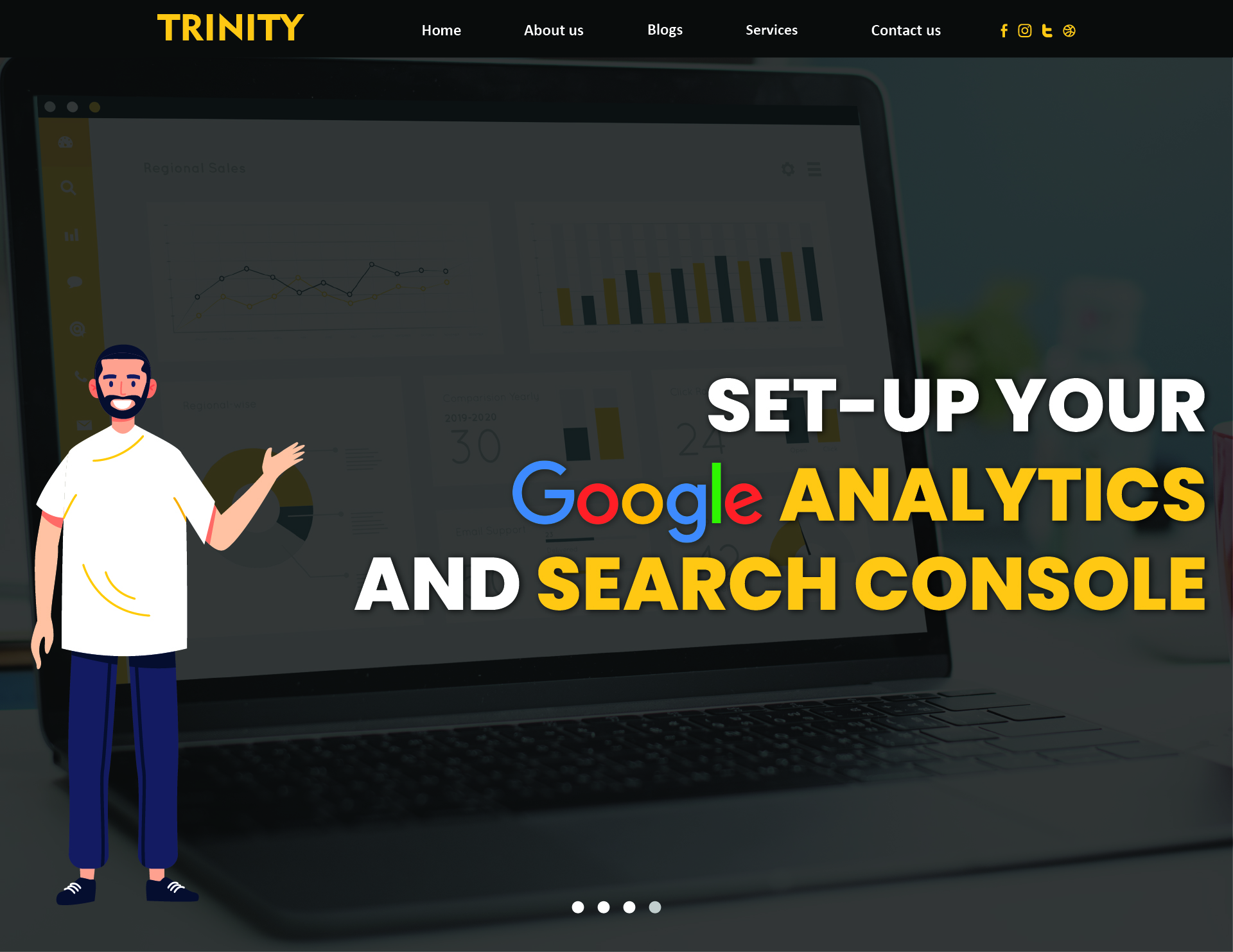 I will set up your google analytics and search console for your website