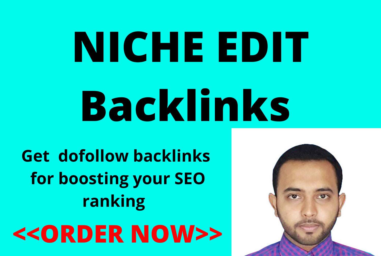 do niche edit outreach SEO backlinks link building service DA 50