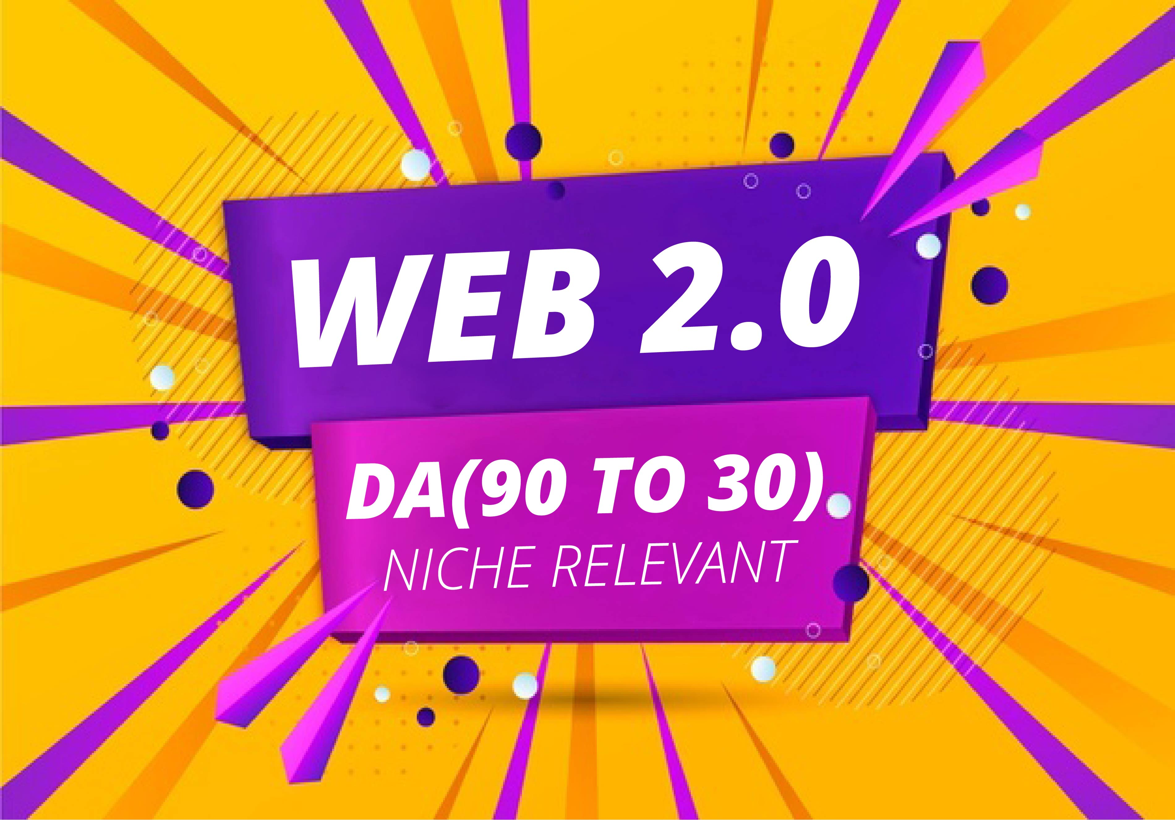 Get 100 web 2.0 backlinks from world wide sites