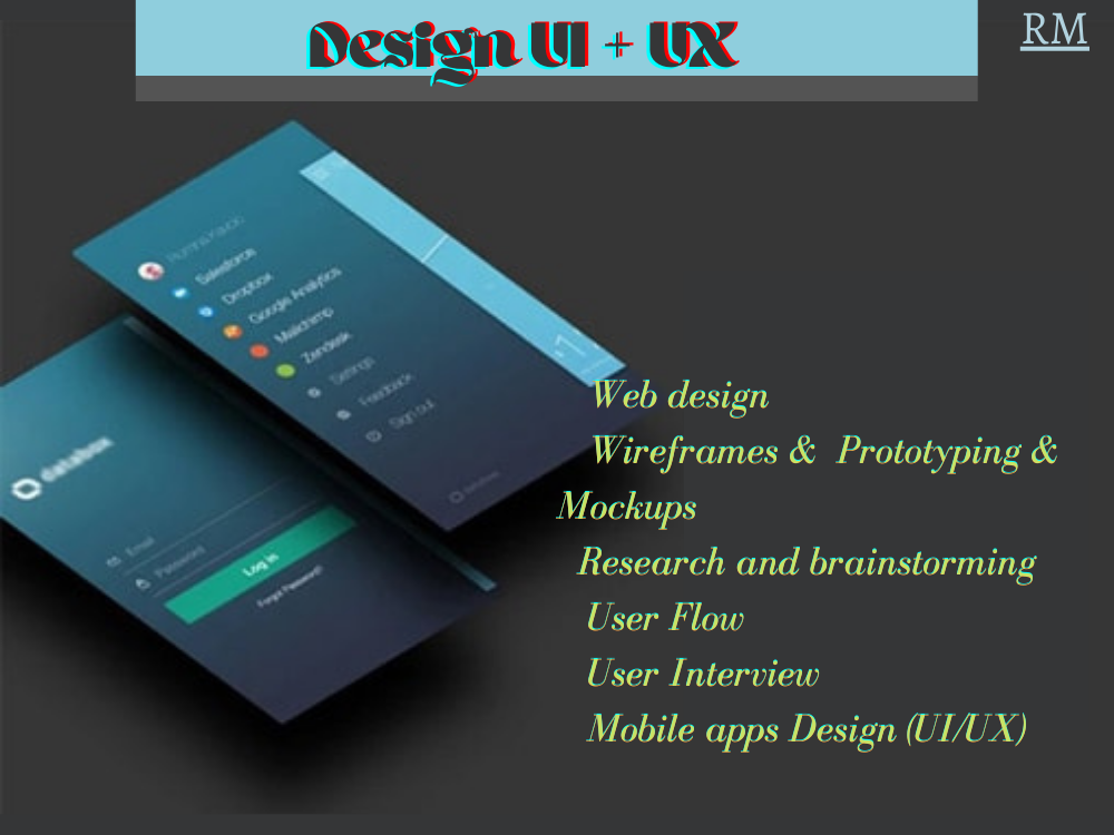 I will design UI UX for your mobile apps,  web,  any friendly design in Figma