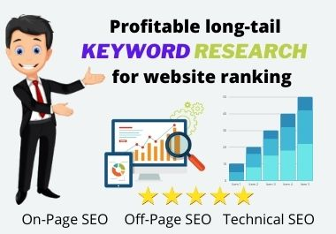 I will do Profitable long-tail keyword research for website for Google ranking.