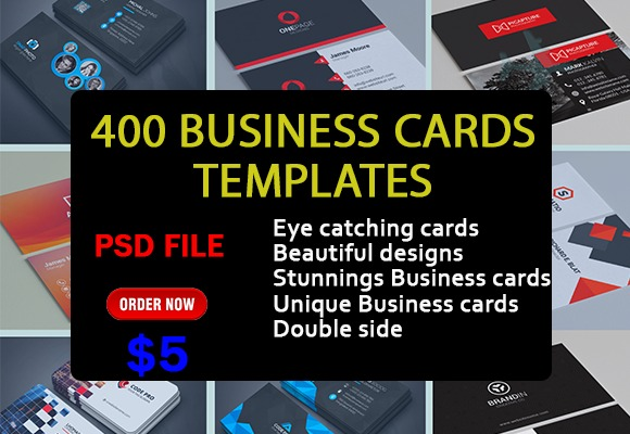 I will give 400 business card templates