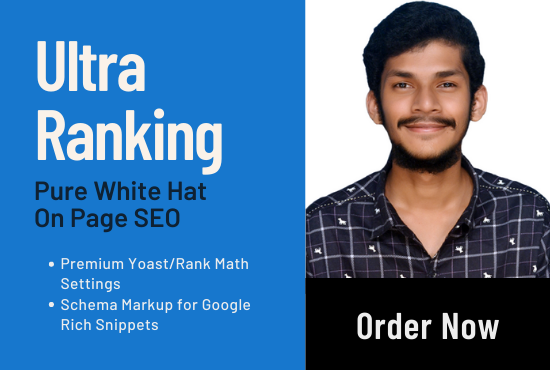 Get Ultra Ranking On Page SEO Service For Your Website