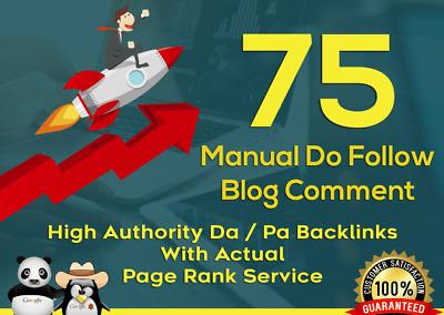 I Will Do 75 High Authrity Dofollow Blog Comment SEO Backlinks