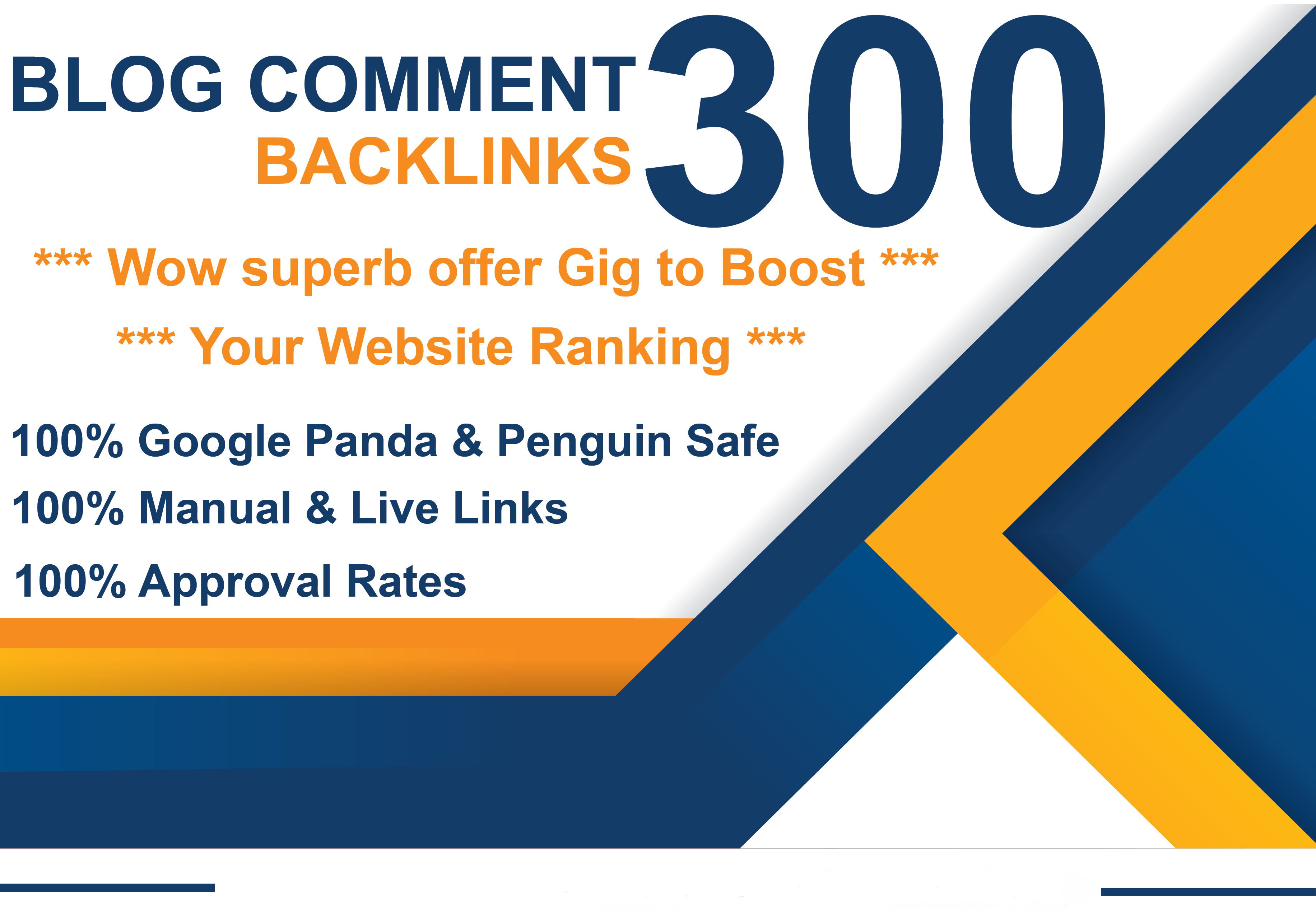 Create 300 Manual High DA PA Instant Approval Blog Comments Permanent SEO Backlinks