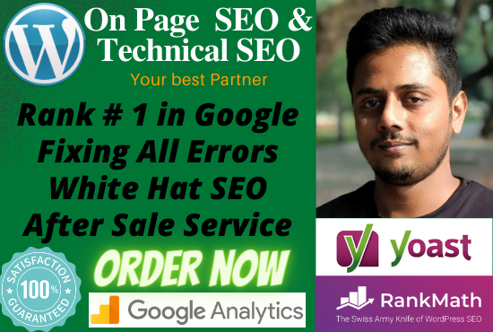 On Page SEO And Technical SEO For WordPress Website.
