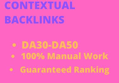 I will create 400 contextual backlinks service