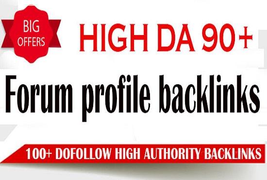 I will create 100 high da do follow pr9 profile backlinks