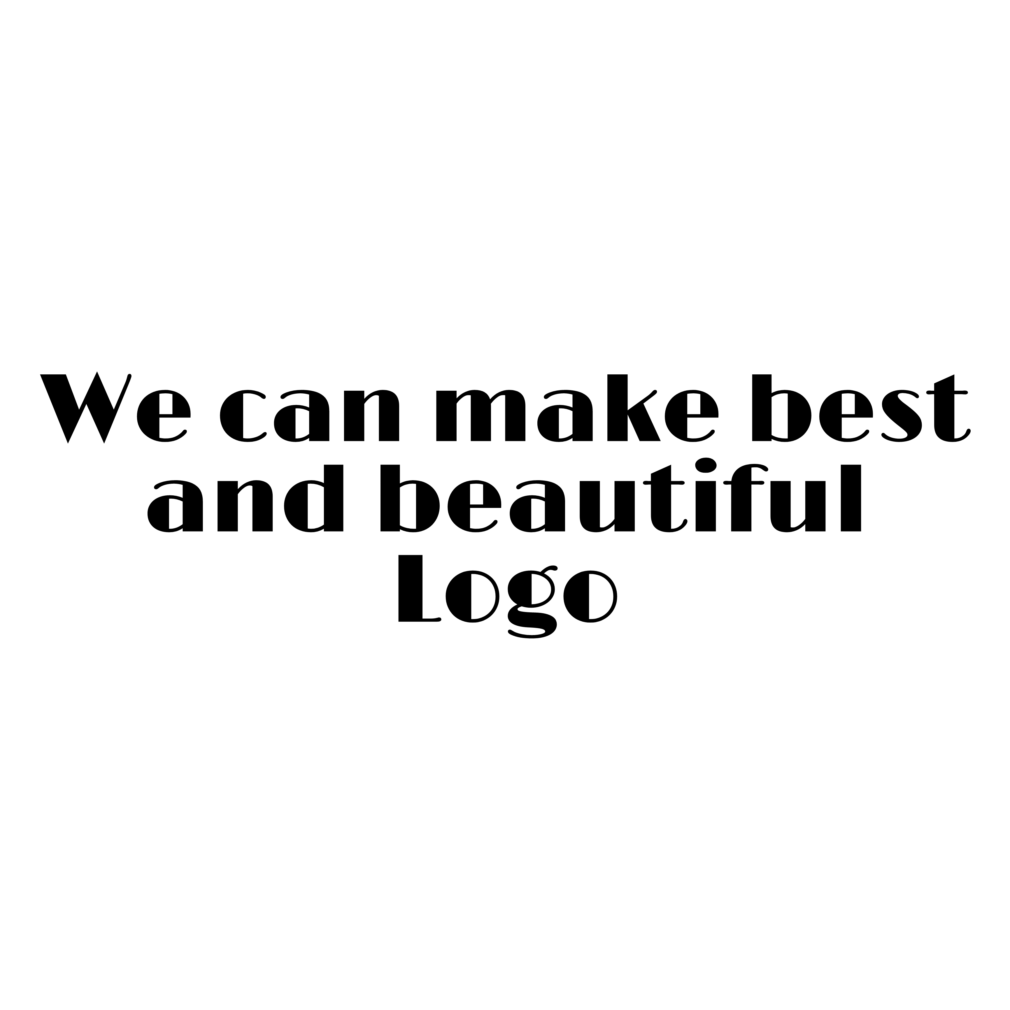 We create great and beautiful logo in short time