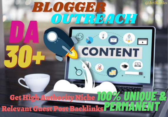 7 Guest Posts Backlinks from DA30+ Real sites by White-hat Outreach method
