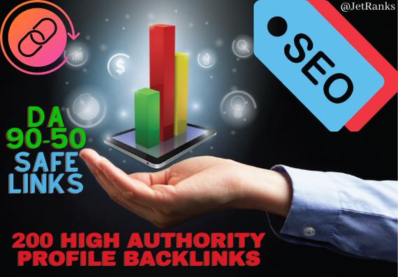 200 Authority SEO Backlinks on DA50 to DA100 Sites Boosting Google Rank