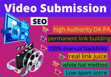 create 80 video and submission dofollow top video submission sites