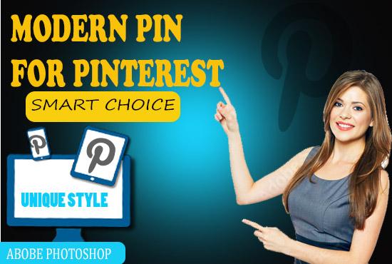 I will design modern pin for Pinterest