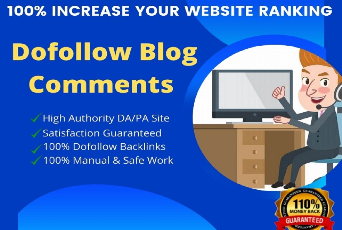 I will manually build 100 High-quality do-follow blog comments backlinks