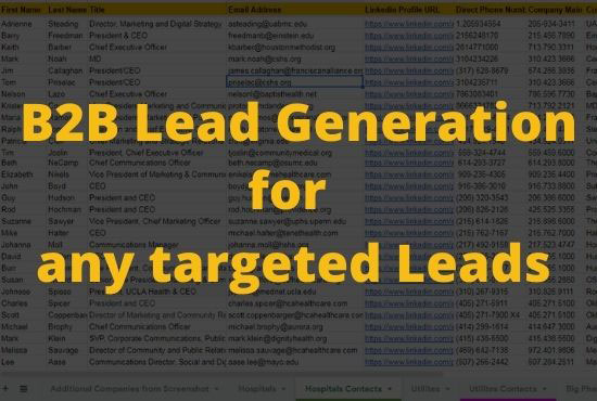 do b2b lead generation for any targeted lead generation