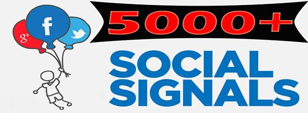 Powerful 50,000 SEO Social Signals Backlinks improve Ranking