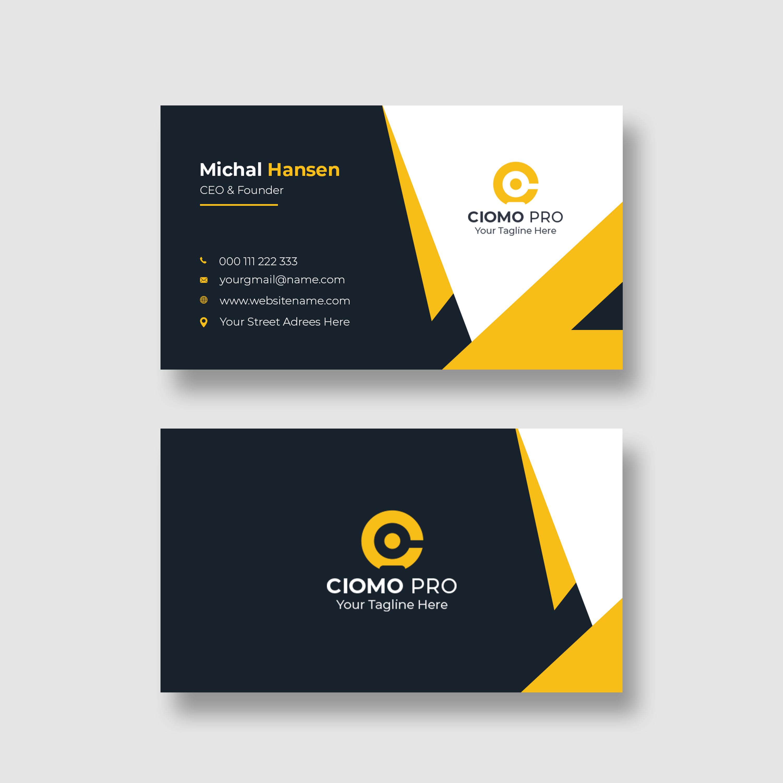 I will create unique business card design