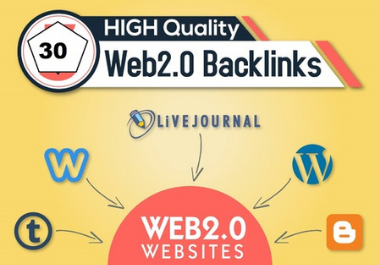 I Will create 25 High Quality Web 2.0 Backlinks For rank your website