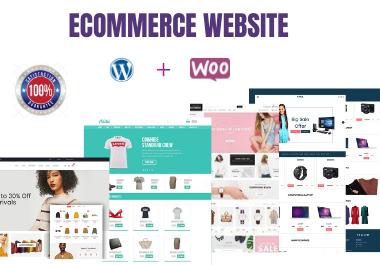 I will create a responsive wordpress ecommerce or woocommerce