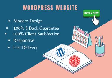 I will create responsive wordpress website design for you