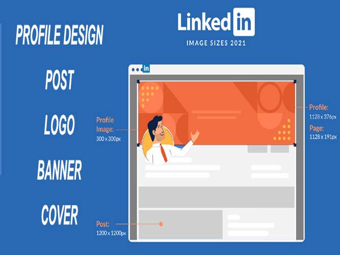 I will professional design linkedin profile,  linkedin post,  linkedin logo,  linkedin banner.