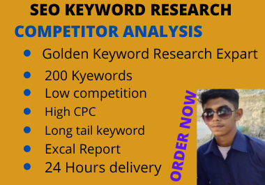 I will do SEO best keyword research and competitor analysis