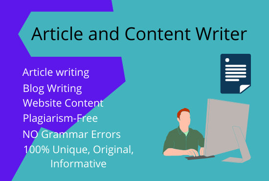 I will manually write website content or be your seo content writer