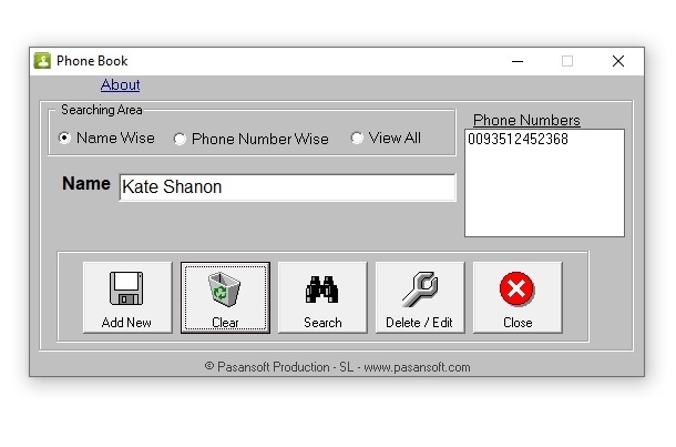 Phone Book Portable Software for Save your Contacts