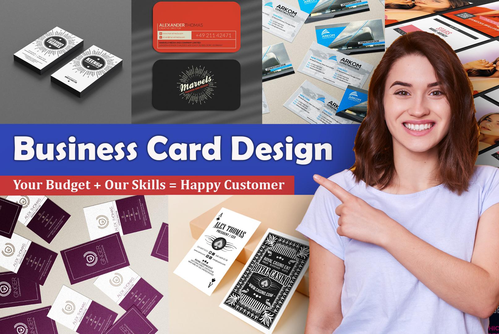 I will provide professional modern minimalist,  unique business,  visit or name card design